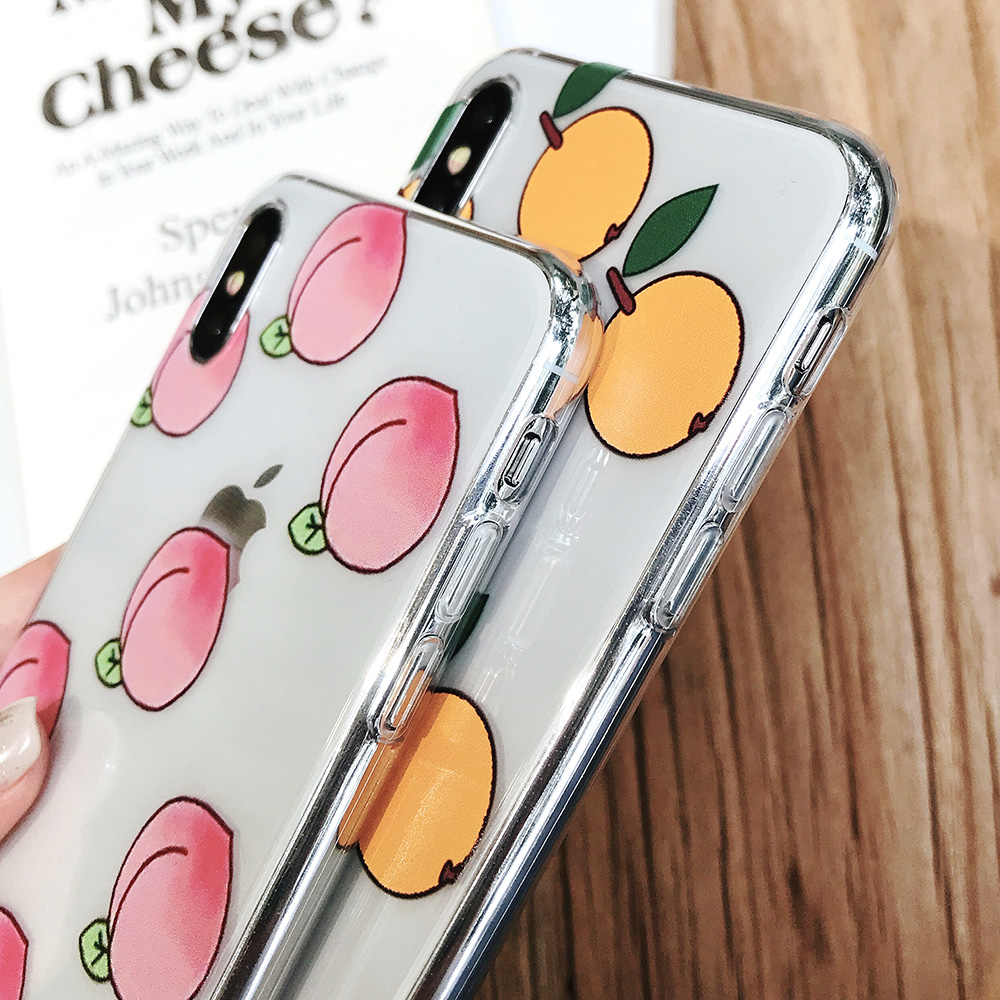 KIPX1084_5_JONSNOW Phone Case For iPhone XS Max XR XS 7 Plus 8 6 6S 6 Plus Fruit Oranges Pattern Clear Soft Silicone Back Cover Capa Fundas