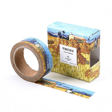 8 pcs/Lot  Oil painting paper washi tapes Starry Impressionis 15mm*7m masking for diary album scrapbooking FJ186
