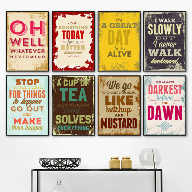 Motivational Quotes Nordic Posters And Prints Wall Art