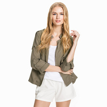Fashion Autumn Bomber Jacket Women 2016 Stand Collar Short Coat Retro Vintage Spring Thin Jacket Femme Korean Cardigans