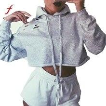 Women Hoodie Sweatshirt Jumper Crop top Coat Pullover Tops