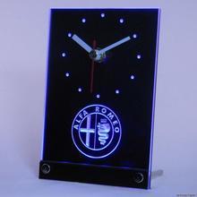 Tnc0172 Alfa Romeo автомобильный сервис настольный 3D светодиодный часы