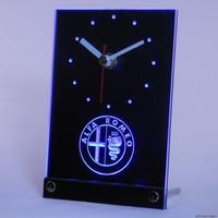 tnc0172 Alfa Romeo Car Services Table Desk 3D LED   Clock