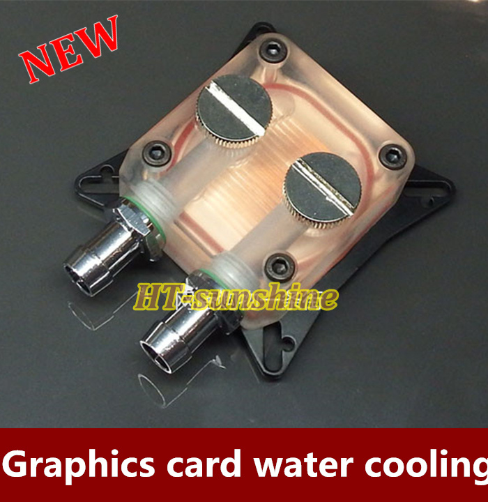 Free shipping   2015  Brand New  1PCS  Water cooled head copper graphics water-cooled radiator suits 5pcs lot pure copper broken groove memory mos radiator fin raspberry pi chip notebook radiator 14 14 4 0mm copper heatsink
