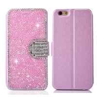 Luxury Bling Crystal Diamond Flip PU Leather Case For IPhone 5S SE 6 6s 7 Plus