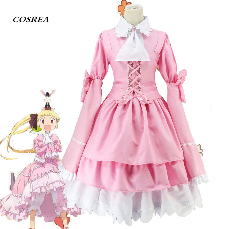 New Lolita Dress Maid Alice to Zouroku Cosplay Costume Sana Kashimura Costumes Alice in wonderlan Lady section pink skirts