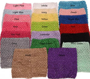 3pcs 6inch Crochet Strapless Tube Top For Pettiskirt Tutu Boutique Tube Tops Elastic chest wrapped Apparel Accessories(China)