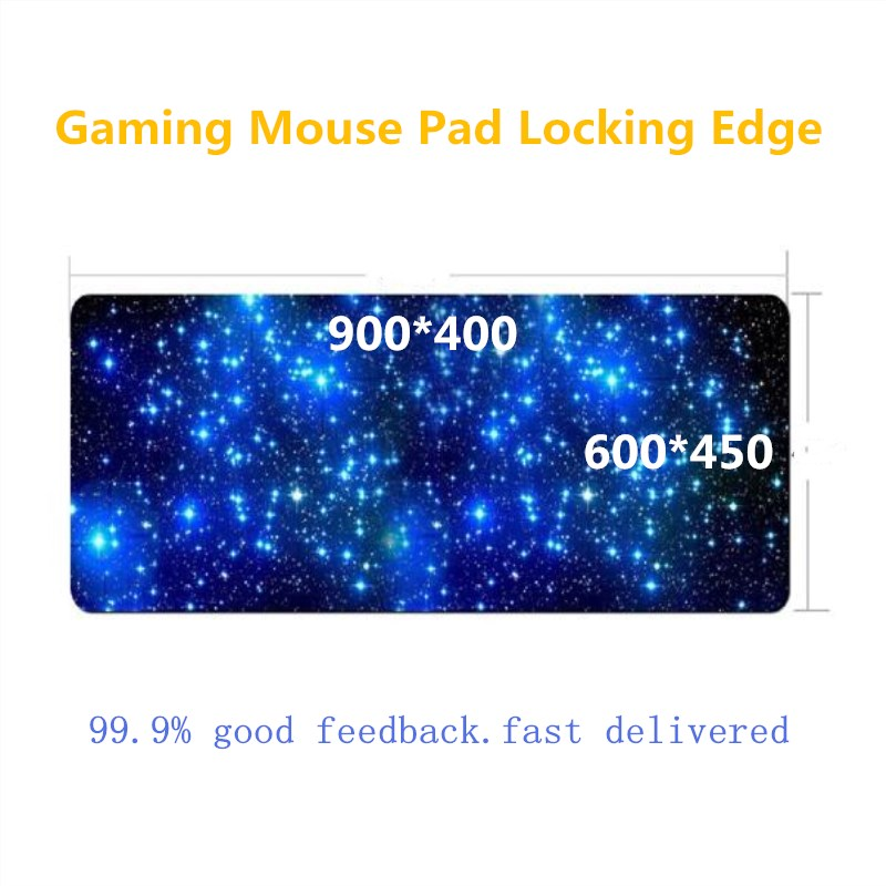 Gaming Mouse Pad Locking Edge Large Mouse Mat Cheaper PC Computer Laptop Mousepad for Apple MackBook CS GO dota 2 lol rakoon 30 80cm large gaming mouse pad all black faced red blue black green lock edge rubber speed mouse mat for pc laptop