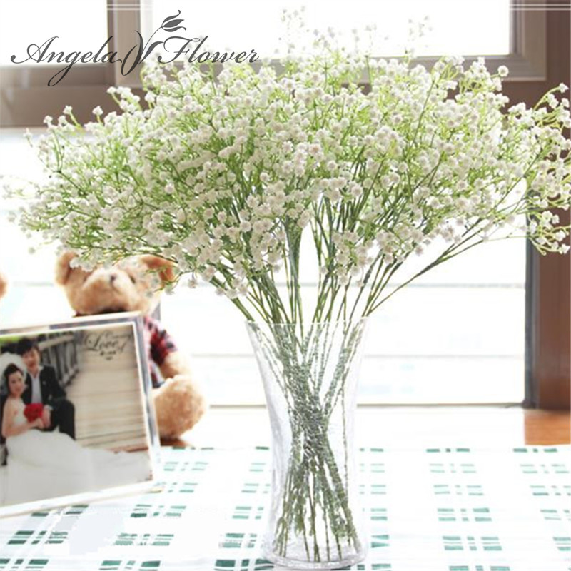 1PCS 58cm Rustic Artificial Flower Interspersion Mantianxing Decor For Home Table  Wedding Flower Plastic Gypsophila Babysbreath(China)
