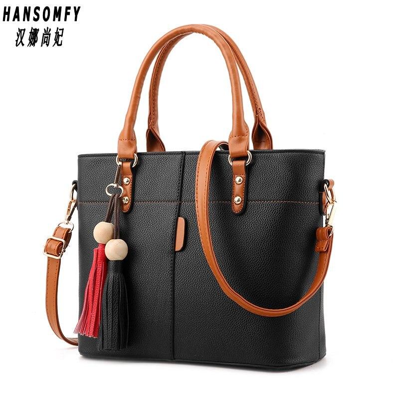 100% cuero genuino bolsos de las mujeres 2018 nuevo bolso de la manera femenina de Corea Crossbody formó el bolso dulce del hombro
