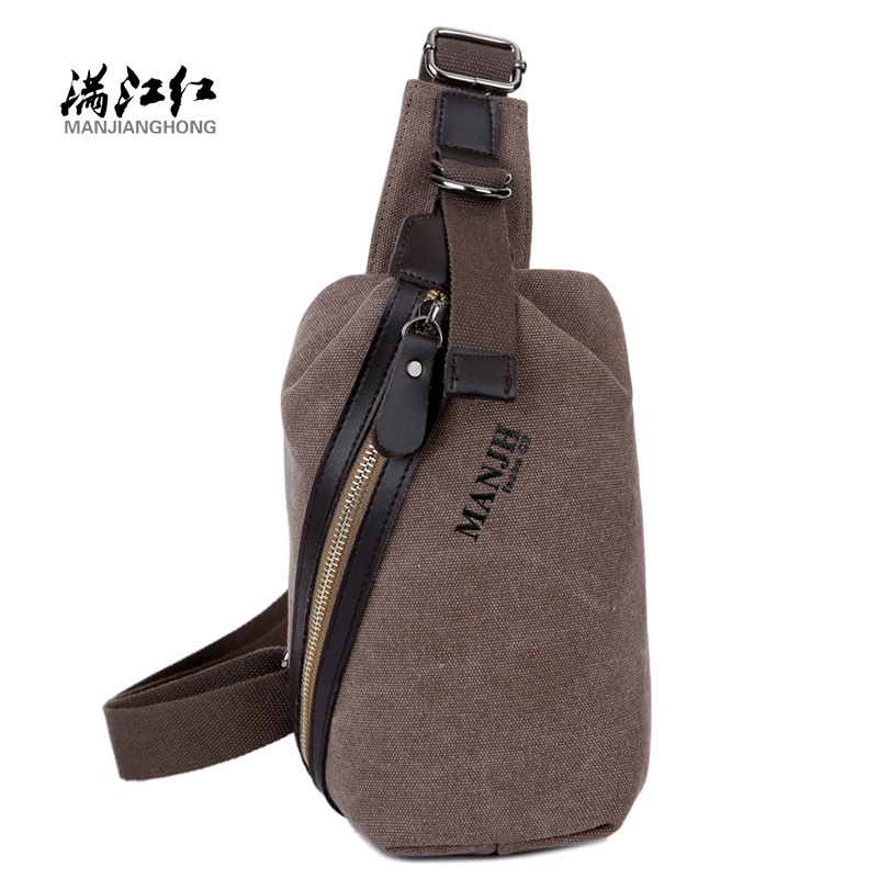 Canvas Shoulder Bags Small Canvas Travelling Vintage Small Crossbody Bags Messanger For Men