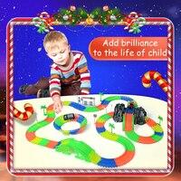 Railway Road Magical Slot Stunt Glow Race Truck Flexible Toys For Boys Children S Railroad Glowing