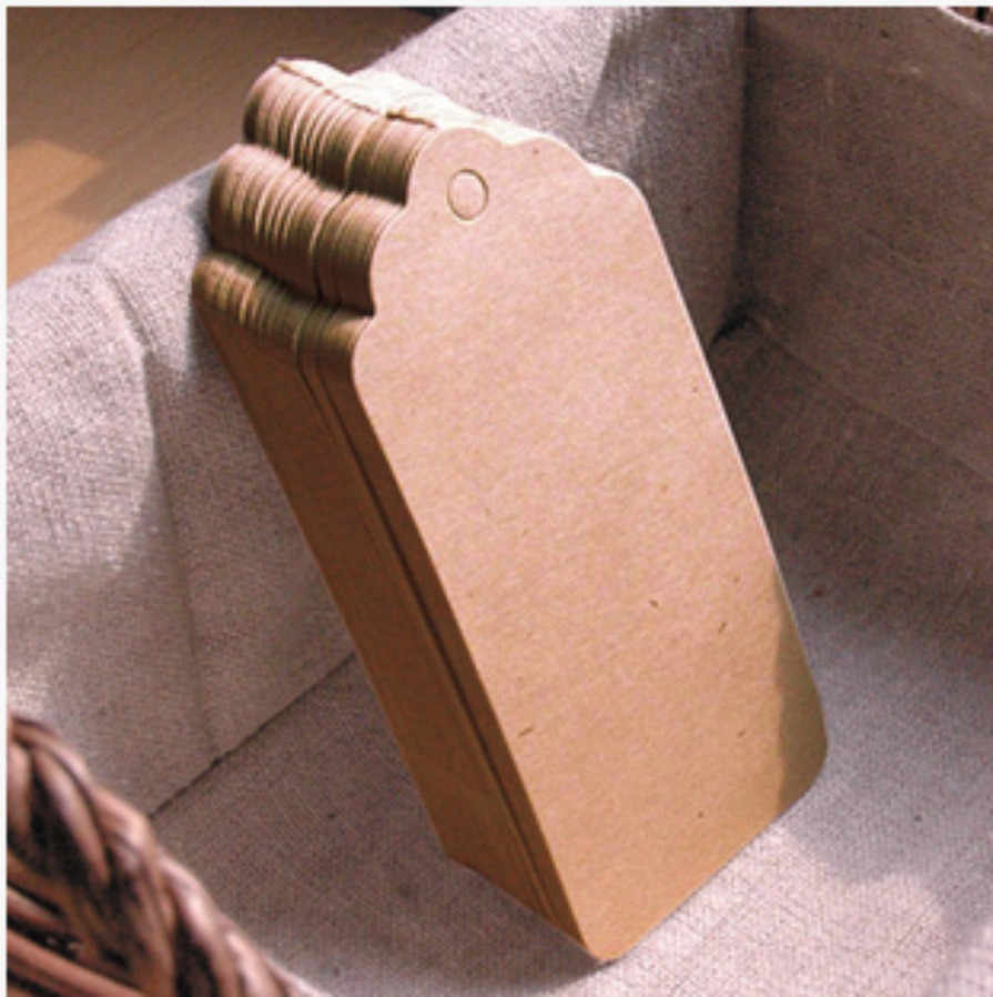 high quality 100pcs 4.5*9.5cm Brown Kraft Paper Tags Label Luggage note DIY Blank price Hang Kraft tag