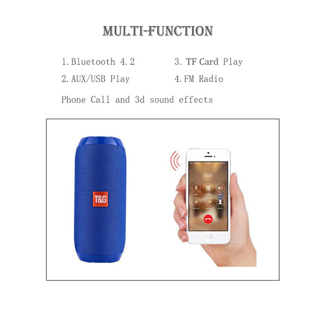 Portable Waterproof Bluetooth Wireless Speaker