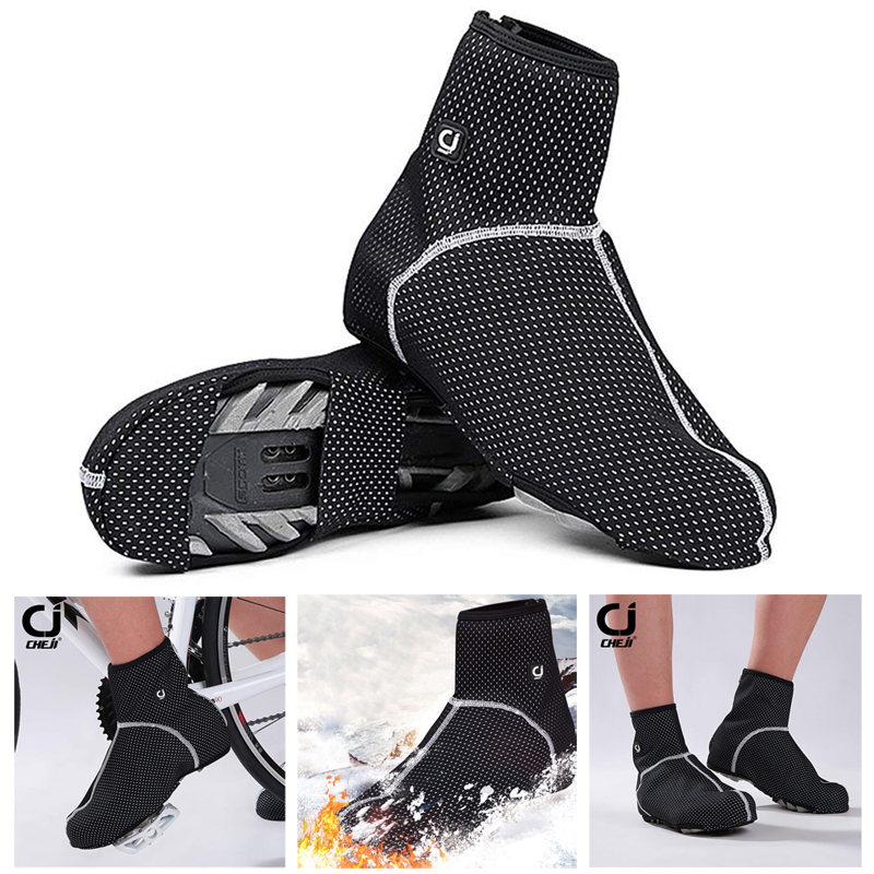 2019 Bicycle Thermal Warm Fleece Cycling Waterproof Windproof Shoes Cover Bicycle Overshoes Mtb Bike Road Ciclismo Boot Cover