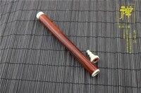 Teachers appliance lobular rosewood white teeth ruby Chen xiang long tube joss stick pipe smoked incense burner