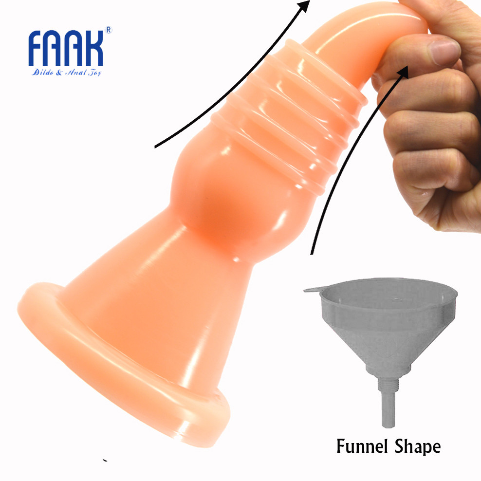 FAAK Big Butt Plug Funnel Shape Anal Plug Screw Thread Dildo Adult Game Anal Trainer Sex Toys for Men Women Prostate Massage lucky john croco spoon big game mission 24гр 004