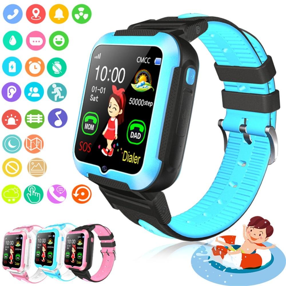 Фирменная Новинка E7 дети умные часы AGPS LBS расположение Водонепроницаемый для маленьких Smartwatch Сенсорный экран детские наручные часы для iOS ...
