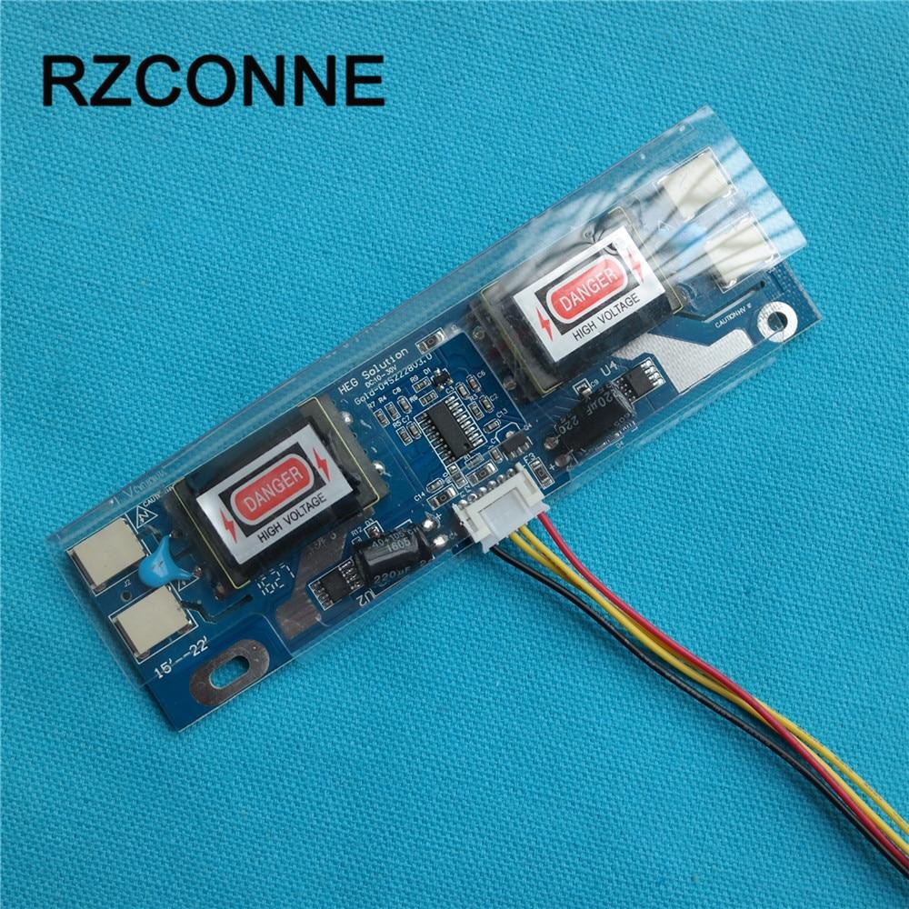 Universal CCFL Inverter LCD Moniteur D'ordinateur Portable 4 Lampe 10-28 V pour 15-22 Widescreen 6pin Câble remplacement livraison gratuite