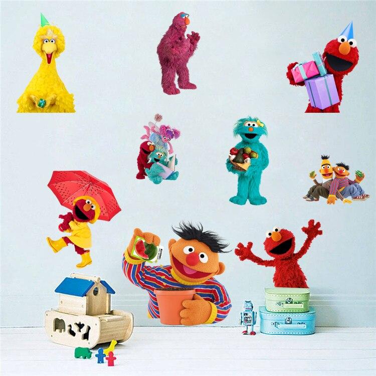 Us 5 39 Sesame Street Cartoon Kids Children Wall Stickers Vinyl Decal Nursery Decor Gift 031 In From Home Garden On Aliexpress