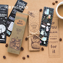 30 pcs box Retro coffee shop paper bookmark stationery bookmarks book holder message card school supplies