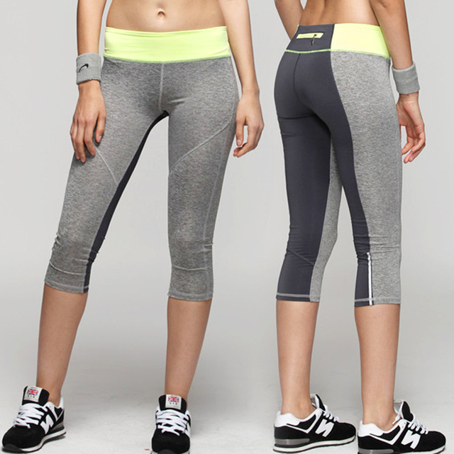22ad714c4ecbd TALONGER Women's sports capris legging, gym worksout quick dry running yoga capri  pants for ladies, free shipping