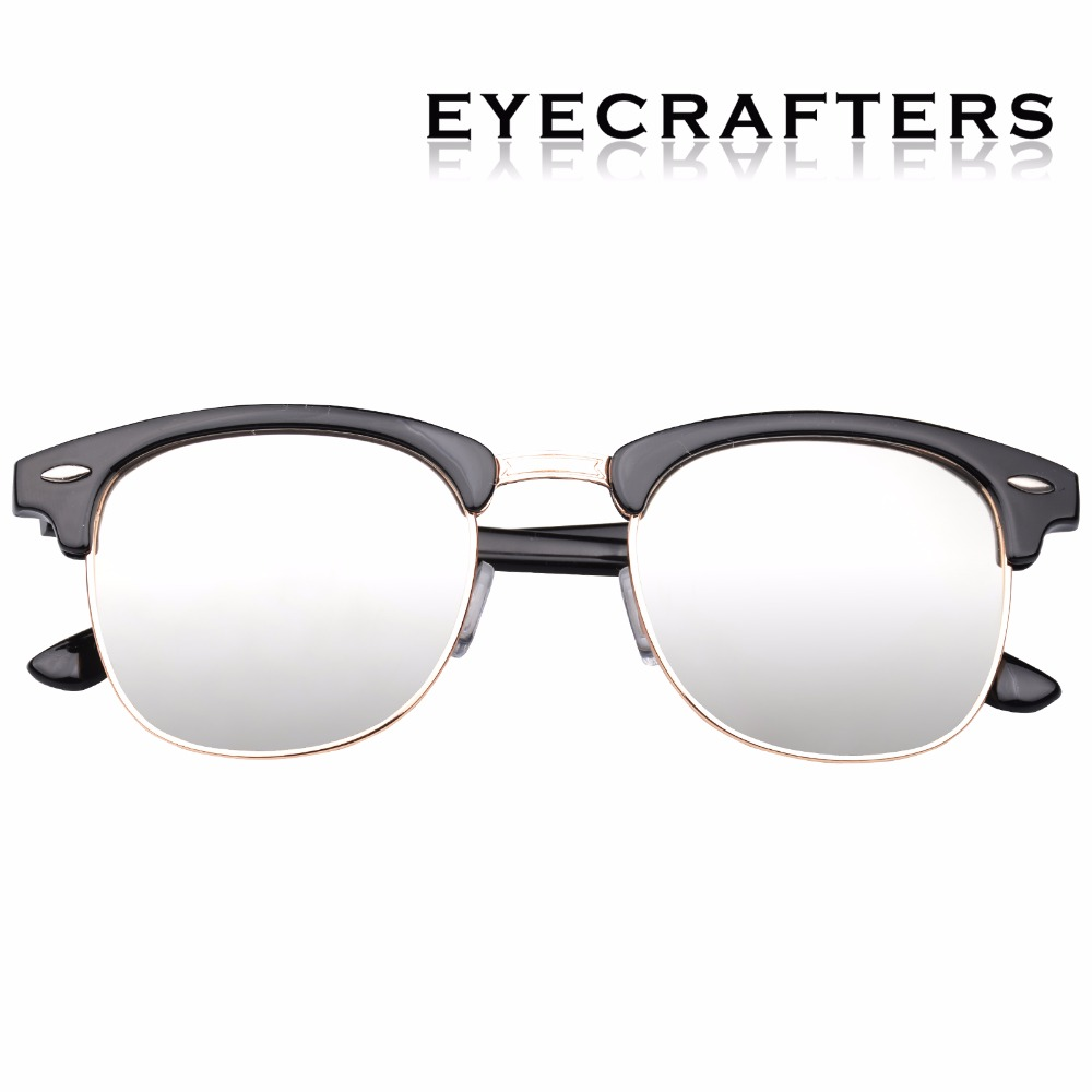 d9ccd3a4bd9 Brown Designer Inspired Classic Half Frame Horned Semi Rimless Mens Womens  Fashion Sunglasses Polarized Retro Eyewear 3016-in Sunglasses from Apparel  ...