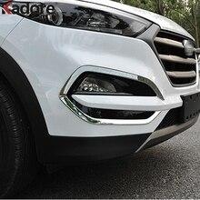 Для hyundai Tucson 2015 2016 2018 2017 ABS Chrome спереди Foglight противотуманных фар Крышка отделка автомобиля протектор Авто внешние аксессуары