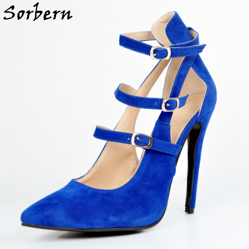 Sorbern Royal Blue Heels Shoes 42 Size Pumps Stiletto Faux Suede High Heel Shoes WomenS Designer Shoes Pointed Toe HeelsSorbern Royal Blue Heels Shoes 42 Size Pumps Stiletto Faux Suede High Heel Shoes WomenS Designer Shoes Pointed Toe Heels