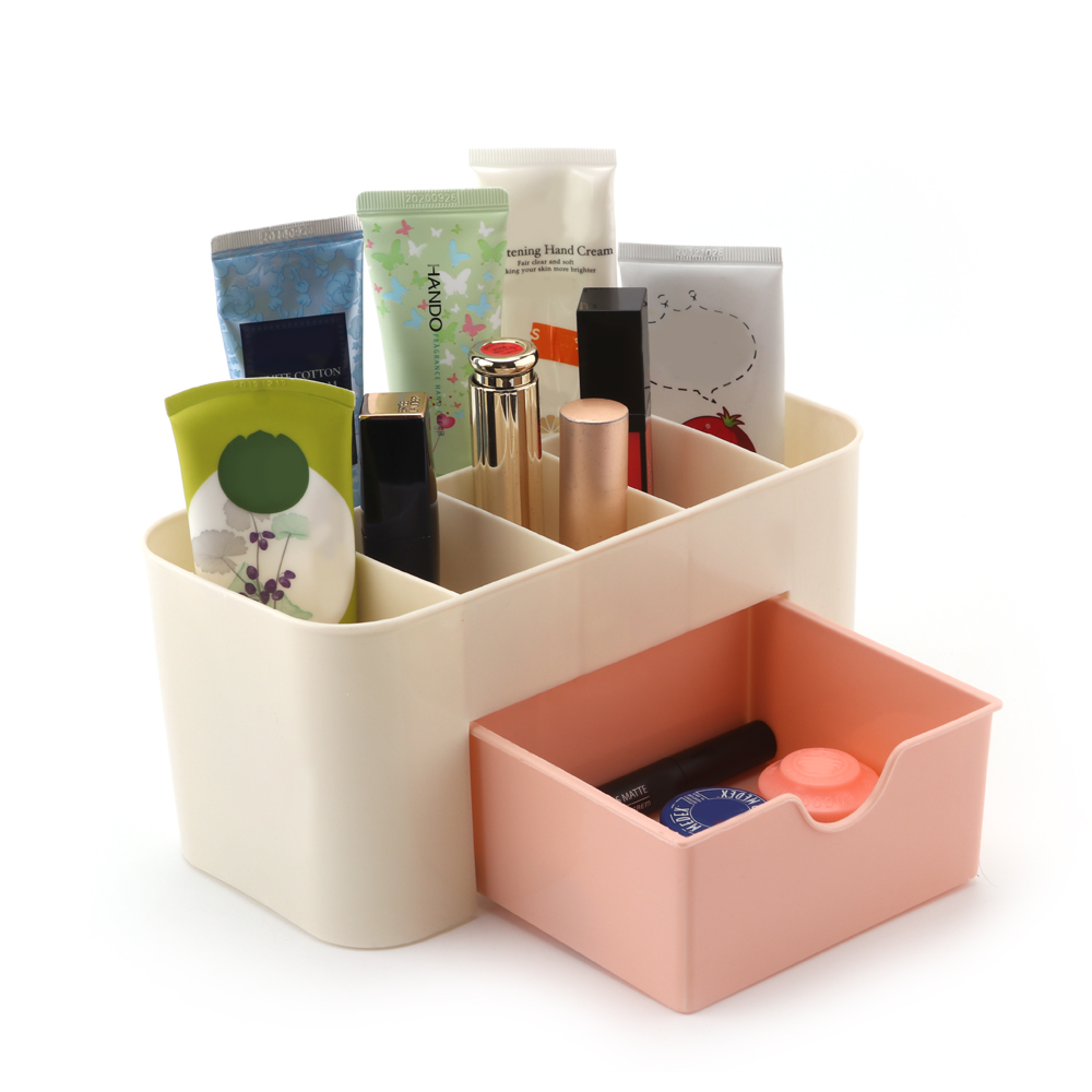 Stationary Boxes Us 5 79 40 Off Plastic Cosmetic Storage Box Multifunction Desktop Storage Boxes Drawer Makeup Organizers Stationery Storage Organizer Drop Shop In