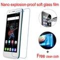 Nano a prueba de explosiones de vidrio blando clear lcd película protectora protector de pantalla para alcatel one touch go play 7048x