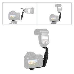 Image 4 - Camera L shaped Stands Angle 2 Shoe Flash Bracket DV Light Tray Dual Cold Shoe Support Holder for DSLR SLR Camcorder Photography