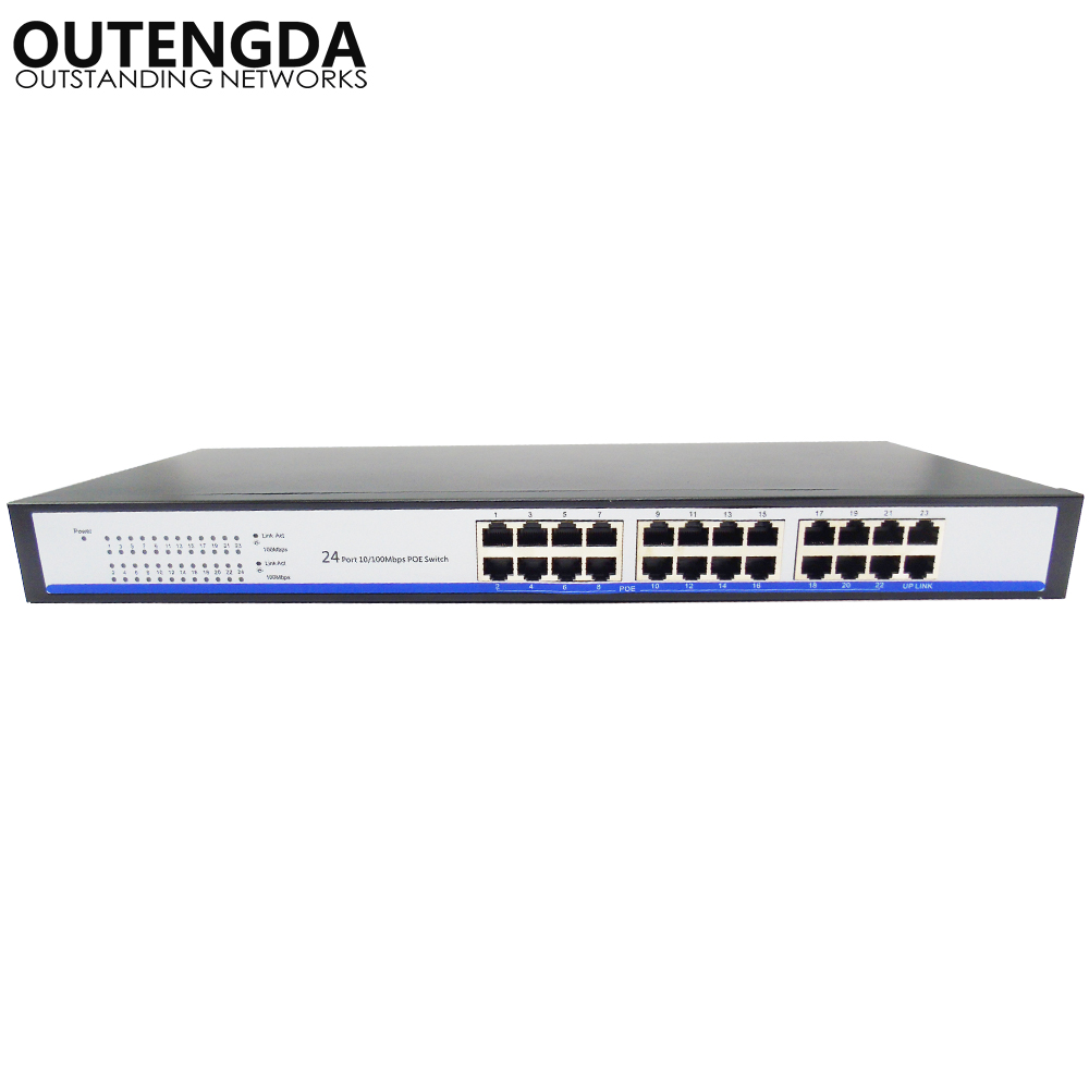 2018 New 24 Ports 10/100m Poe Switch 24V Power over Ethernet with 23 POE Ports and 1 Uplink for Wifi ap, IP camera etc