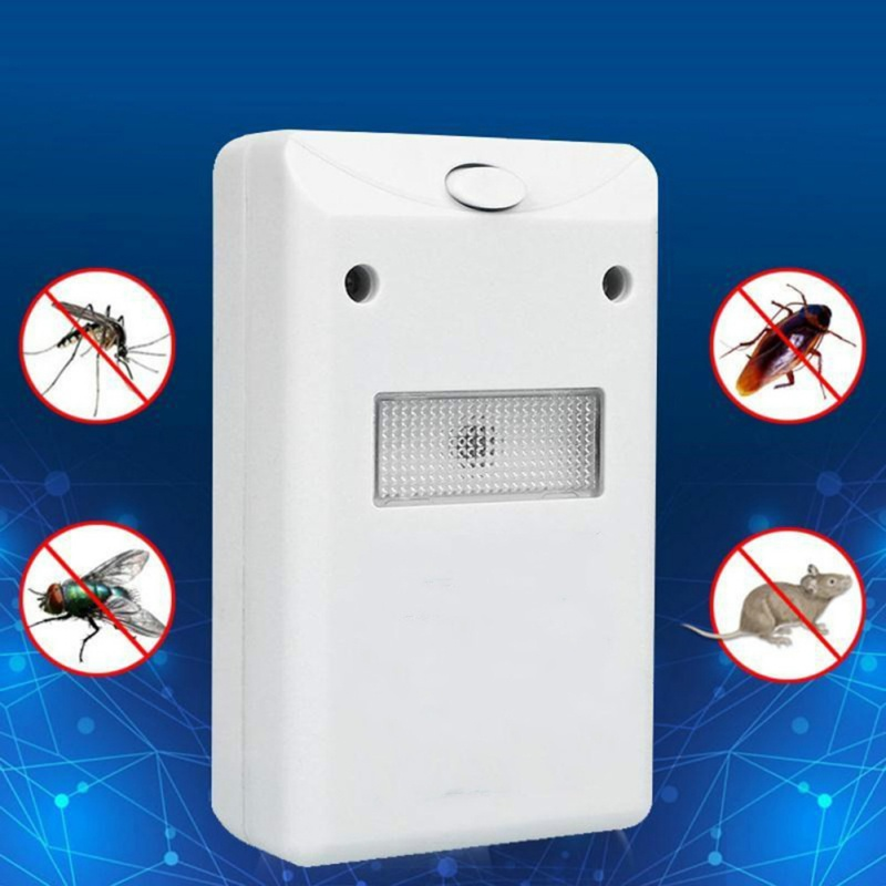 New Ultrasonic Electronic Repeller Pest Control Drives Away Animals With Flashlight Outdoor Insect Repellent