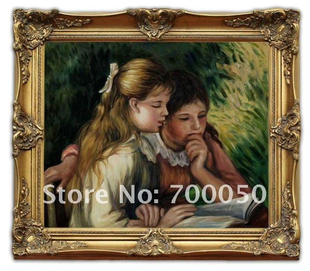 Free Shipping Wooden Oil Painting Frames La Lecture Renoir Art 20x24 ...