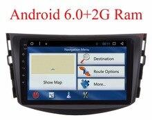 NOUVEAU! Quad Core 1024*600 HD Écran 2Din Android 6.0 DVD De Voiture pour Toyota RAV4 Audio Vidéo Stéréo GPS de Navigation Radio RDS 3G 4G Wifi