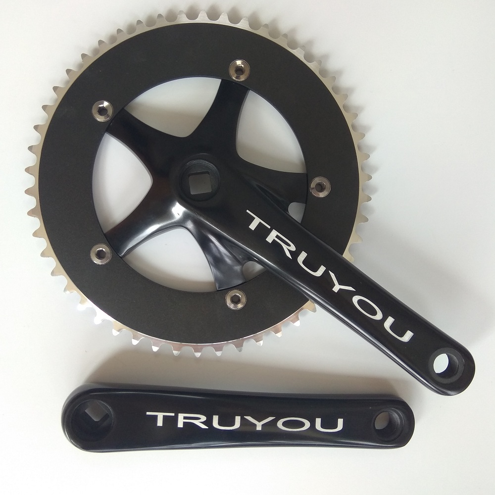 TRUYOU Fixed Gear Crankset Single Speed Bicycle Parts 144 BCD 53T 52T 50T 48T 46T 44T