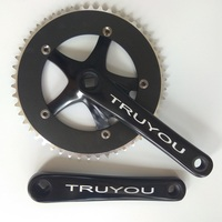 TRUYOU Fixed Gear Crankset Single Speed Bicycle Parts 144 BCD 53T 52T 50T 48T 46T 44T Chainwheel 1/8 CNC Track Bike Chainrings
