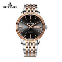 2020 新リーフ虎ドレス時計の男性トップブランドの高級腕時計自動ローズゴールド腕時計日付日レロジオ masculino RGA8236