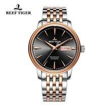 2020 جديد ريف النمر فستان ساعة الرجال العلامة التجارية الفاخرة التلقائي ساعة الوردي الذهب ساعة تاريخ اليوم relogio masculino RGA8236