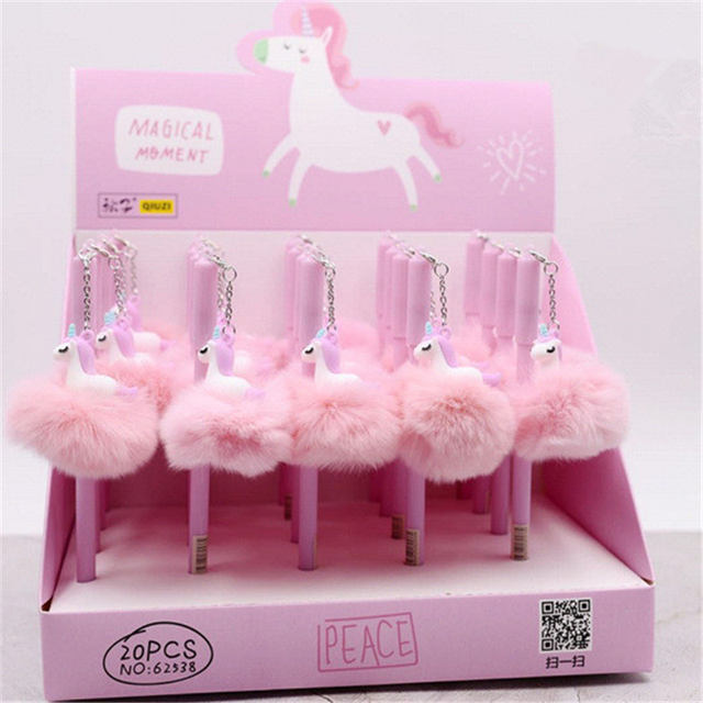 3pcs 05 Mm Unicorn Flamingo Warm Ball Black Ink Pen Birthday Gifts For Kids Baby Shower