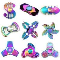 Top Rainbow Fidget Spinner Lot EDC Stress Toy Batman Tri Hand Spinner Metal LED Handspinner Lumineux