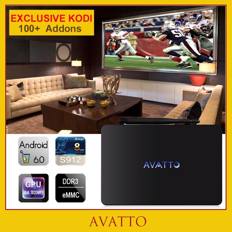 [Avatto] X92 2 GB 16 GB Amlogic S912 Android 6.0 Smart TV Box Octa Core BT 4.0 5