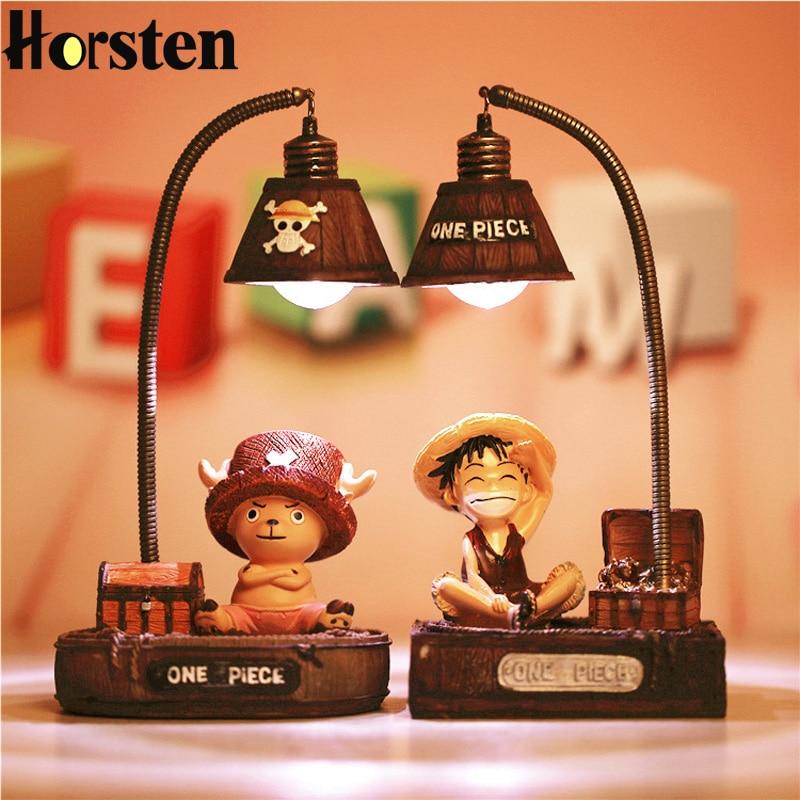 Cartoon Night Lamp Luffy And Joe Japanese Anime Toys Small Night Lights Resin Ornaments Crafts Lamp Creative Night Light Gift