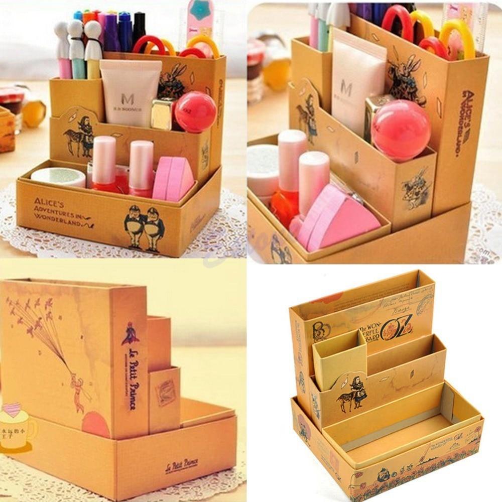 Unique Diy Desk Paper Organizer Fairy Tale Storage Box Creative Desktop Office Drawer Cosmetics Boxin Boxes Bins From O In Ideas
