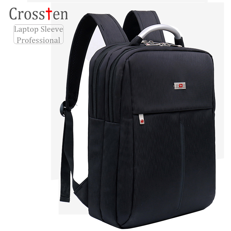 Crossten 2017 New Swiss bag Backpack for 15 laptop Fashionable Business Backpack Travel Bags School With Alloy Handle lowepro protactic 450 aw backpack rain professional slr for two cameras bag shoulder camera bag dslr 15 inch laptop