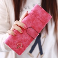 55 Card Holders Luxury Fashion Women Wallets Money Clip Long Leather Purses Clutch Famous Brand Handbags