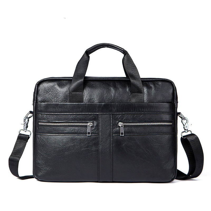 Genuine Leather Men's Bag Bolso Hombre Soft Leather Laptop Computer Bag Business Men Cowhide Handbag Briefcase Bolso Ordenador