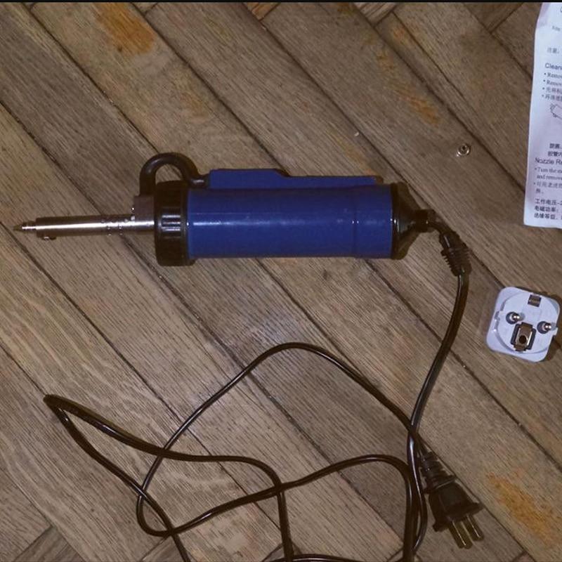 New 220V Vacuum Desoldering Pump 30W 50Hz Automatic Electric Vacuum Tin Solder Sucker Desoldering Pump Soldering Tool solder sucker desoldering pump tool removal vacuum soldering iron desolver
