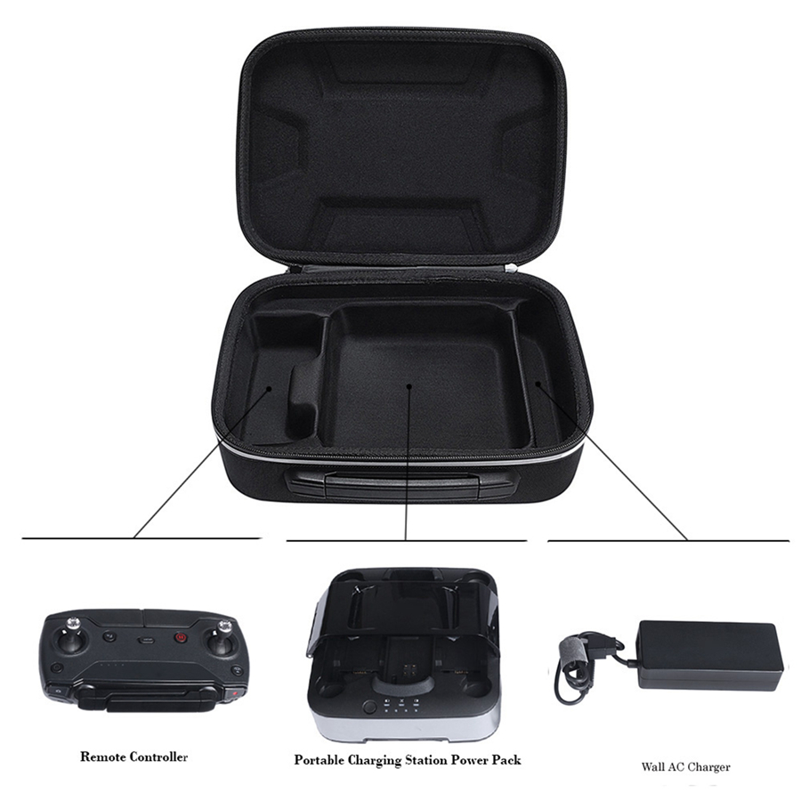 Hard Storage Bag for DJI Spark & Charger & Remote Controller Portable Travel Carry Box Water resistant Drone Bag Cover Case|Drone Boxes| |  - title=